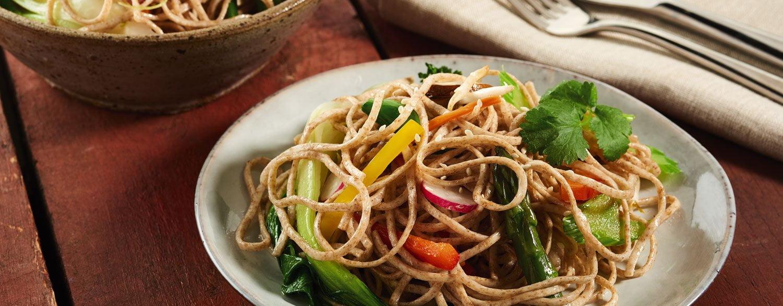 Vegan Wholewheat Noodle Stir Fry